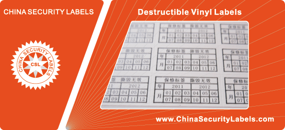 Destructible Vinyl Labels