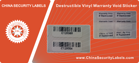Destructible Vinyl Warranty Void Sticker