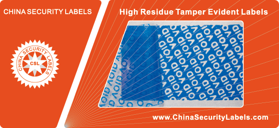High Residue Tamper Evident Labels