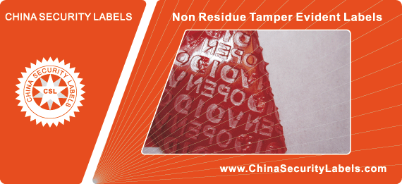 Non Residue Tamper Evident Labels